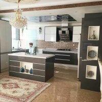 کابینت آشپزخانه های گلاس؛ تصاویر، قیمت، معایب و مزایا