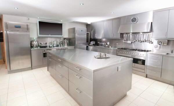 کابینت استیل بسیارزیبا برای آشپزخانه حرفه ای