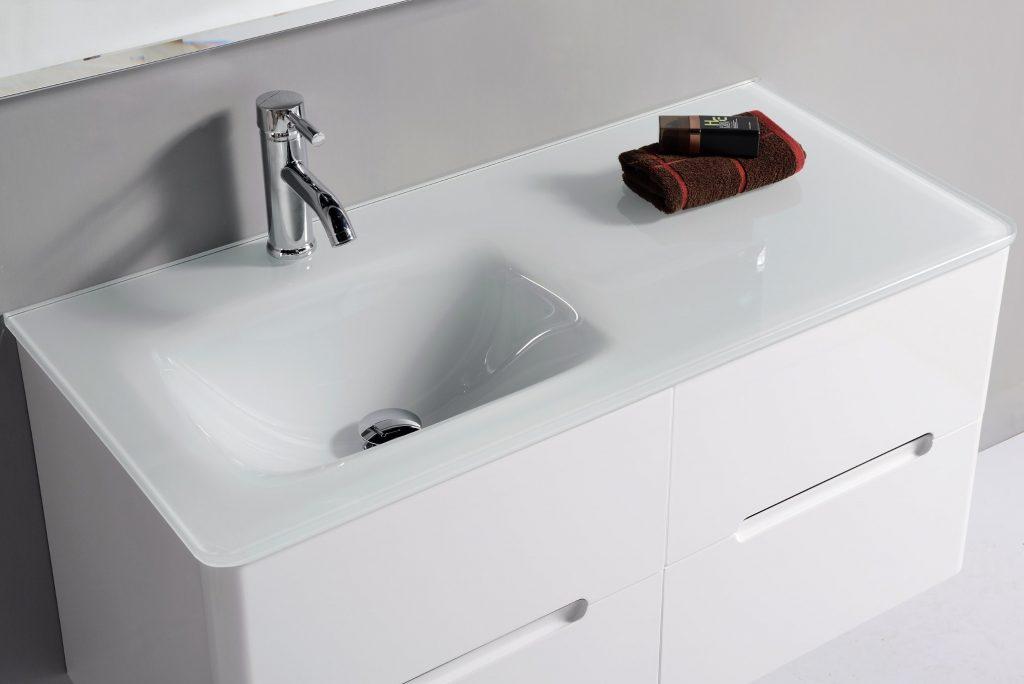 کابینت روشویی پی وی سی (PVC) سفید ضد آب
