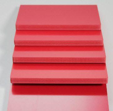 ورق پی وی سی (PVC) قرمز رنگ