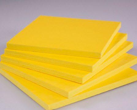 ورق پی وی سی (PVC) زرد رنگ