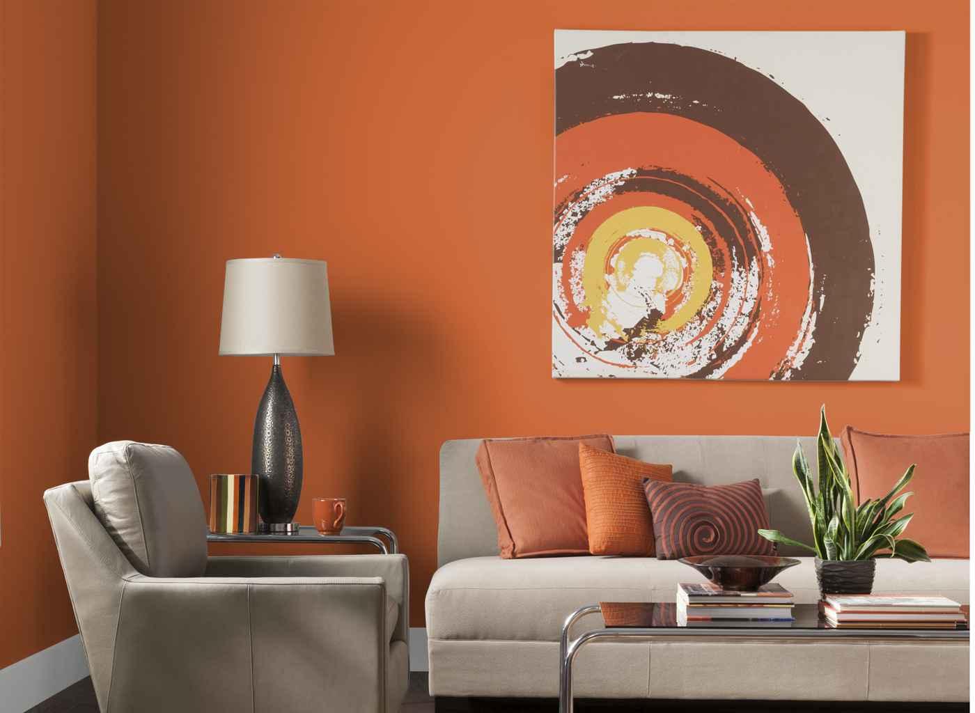 نارنجی در دکوراسیون داخلی منزل