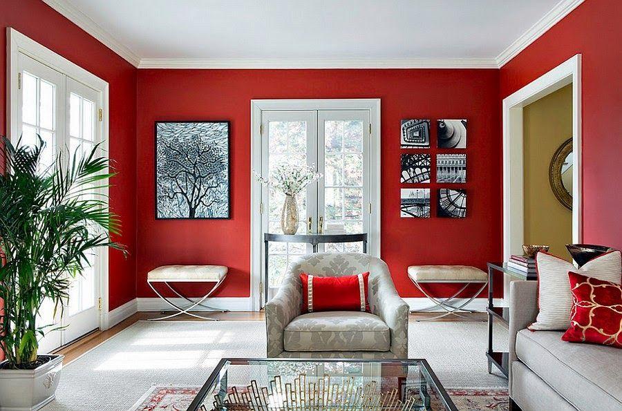 قرمز در دکوراسیون داخلی منزل