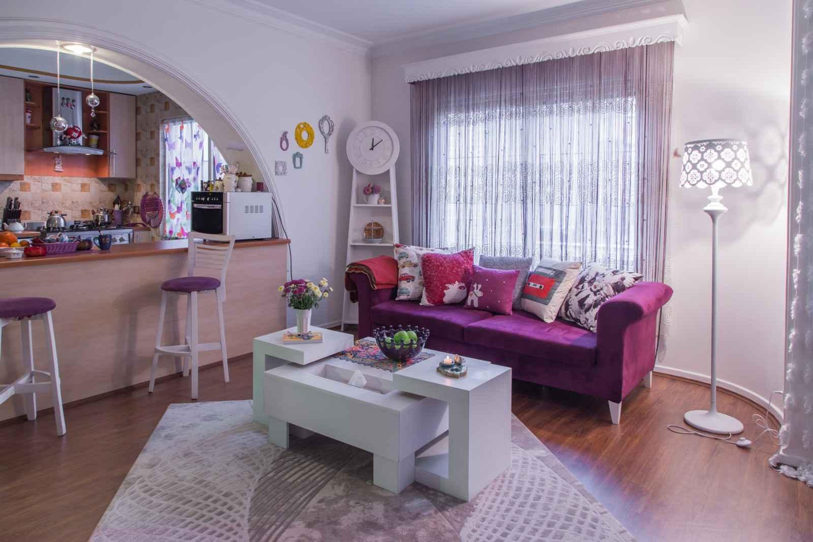 رنگ بنفش در دکوراسیون داخلی منزل