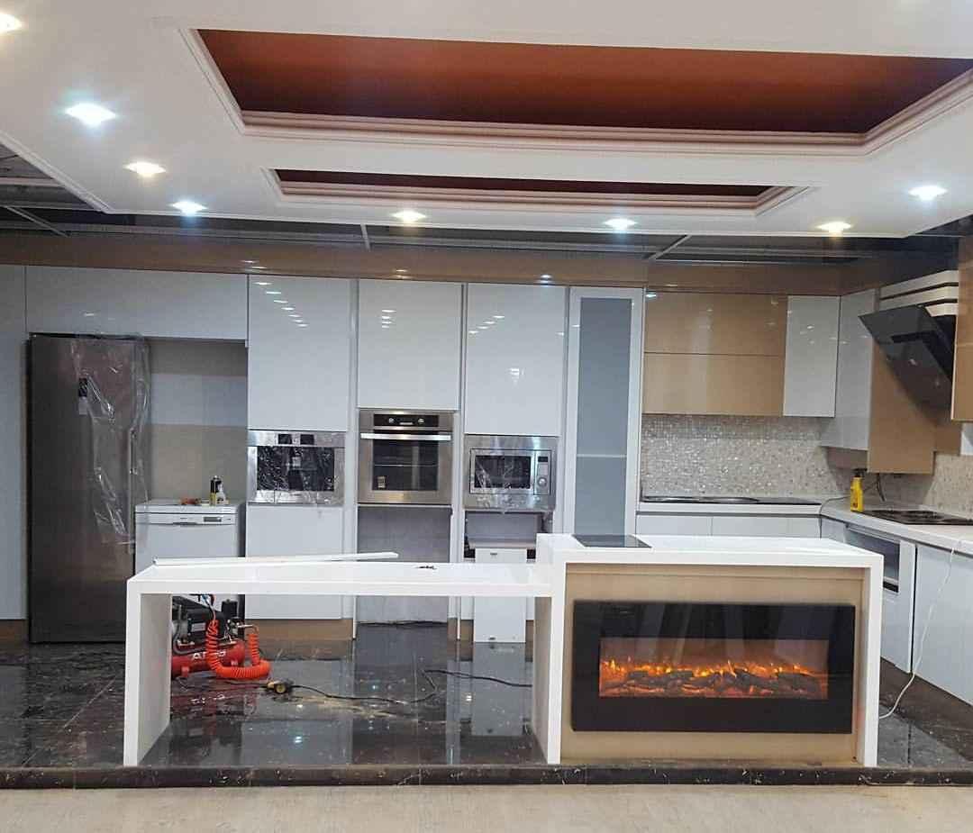 آشپزخانه های گلاس مدرن