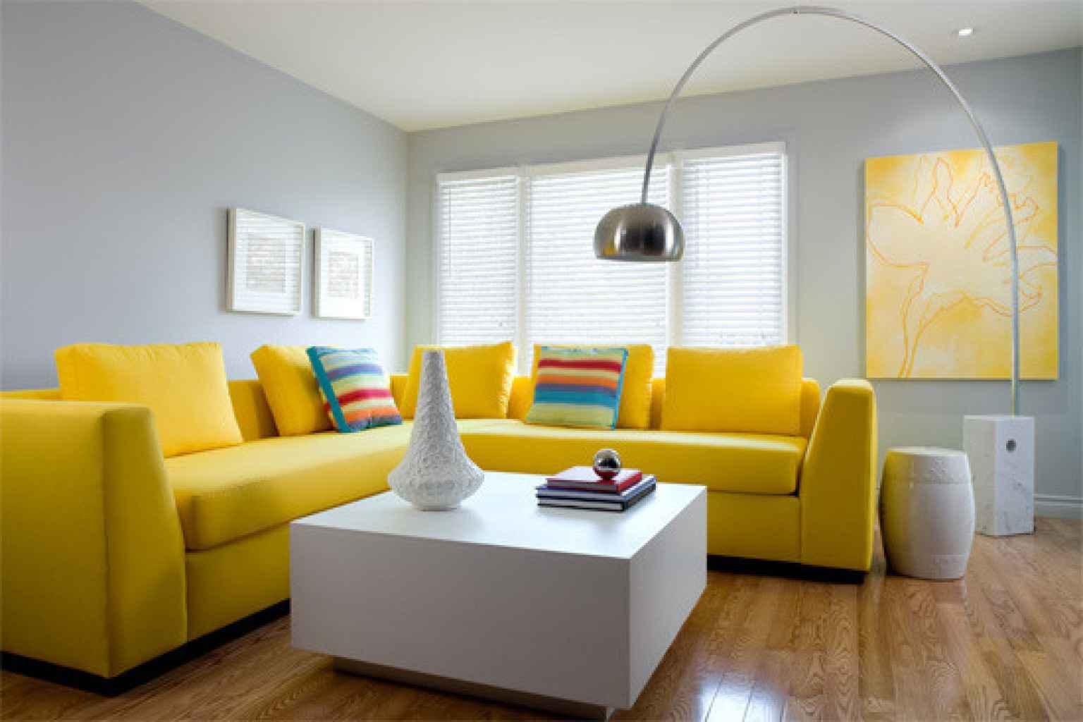 دکوراسیون داخلی منزل با رنگ زرد