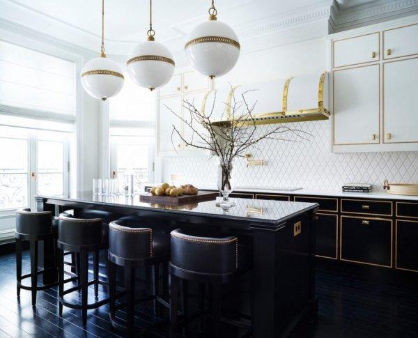 آشپزخانه مدرن سفید مشکی