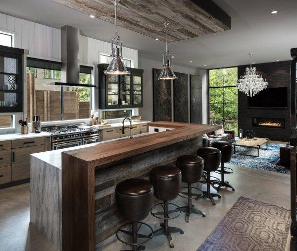 مدل کانتر آشپزخانه به شکل اپن معمولی
