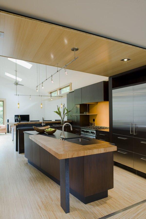 مدل آشپزخانه با کانتر که با اپن جزیره