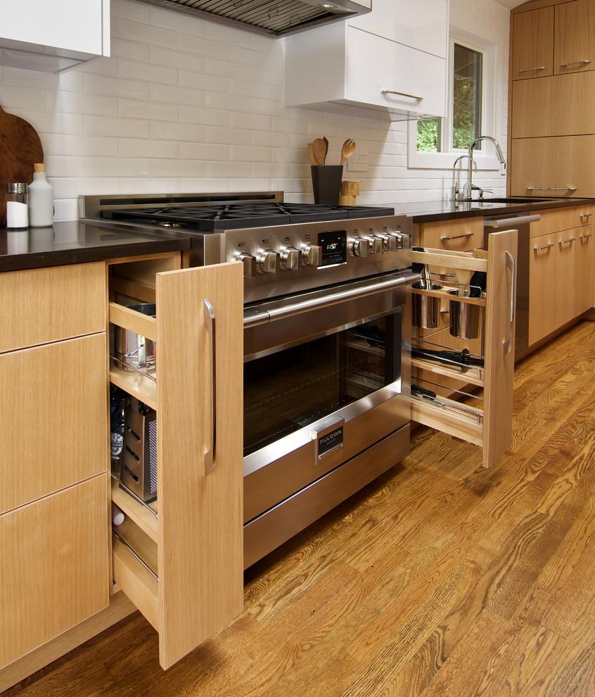 کابینت مدرن برای آشپزخانه های کم جا