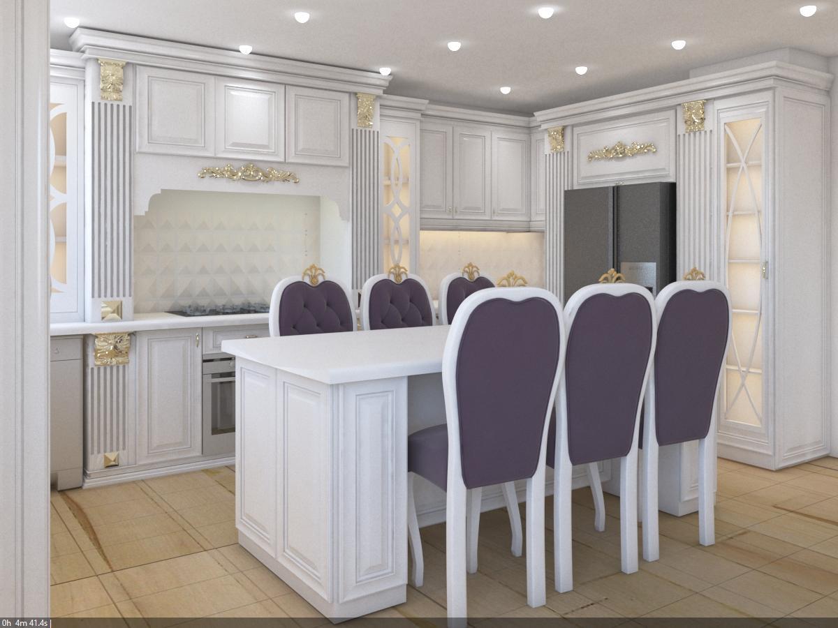طراحی آشپزخانه به رنگ سفید