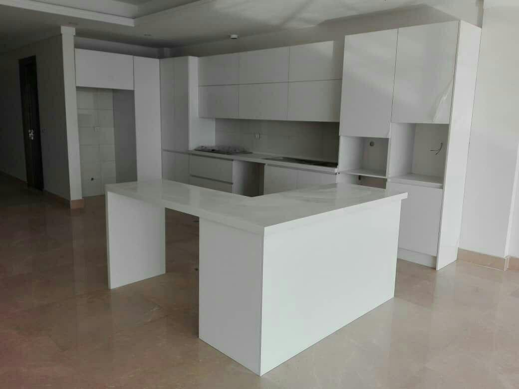 طراحی کابینت مدرن سفید