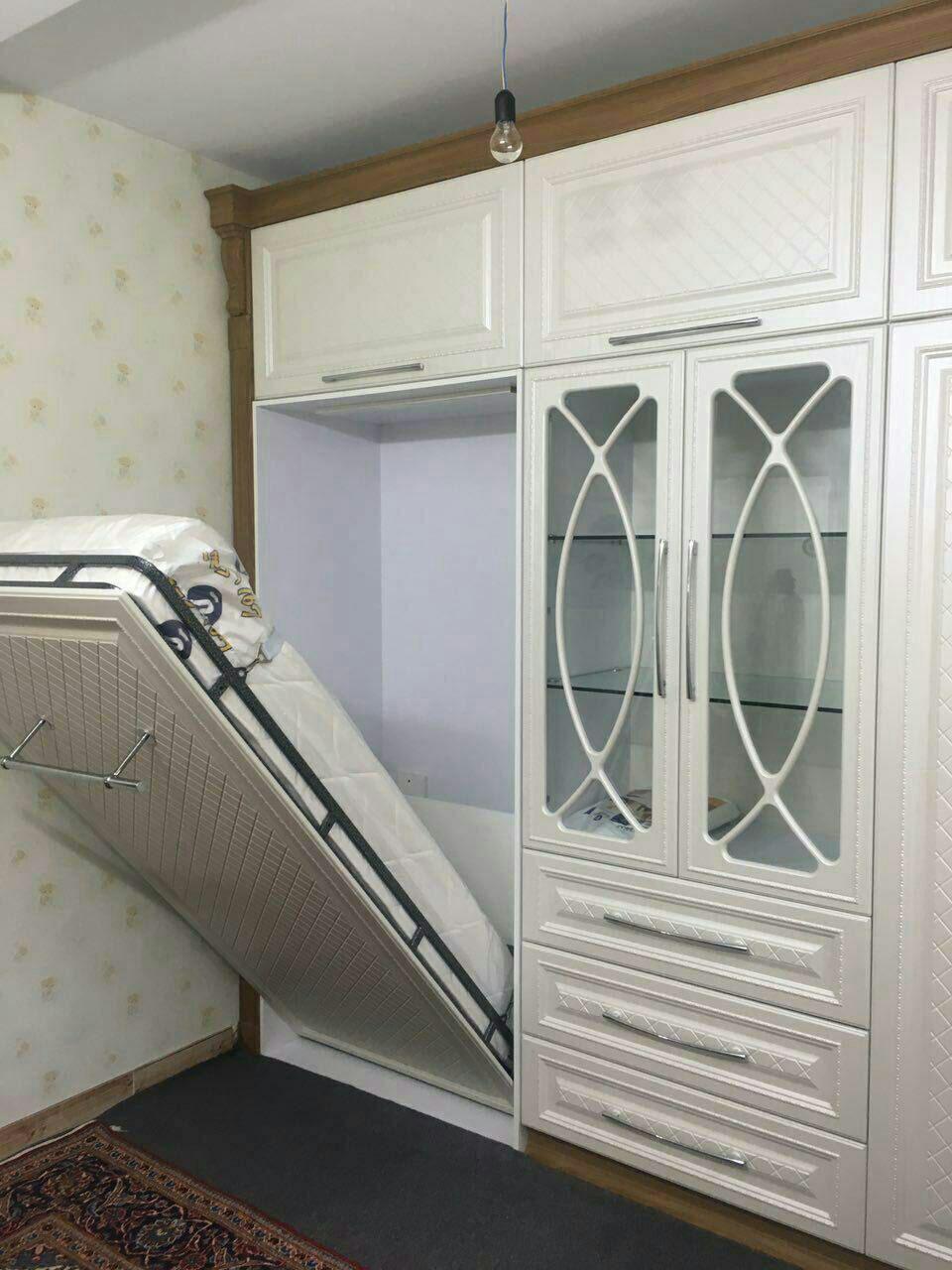 مدل تختخواب تاشو به همراه دکور