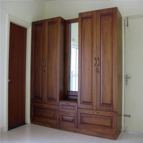 مدل کمد دیواری چوبی با آینه