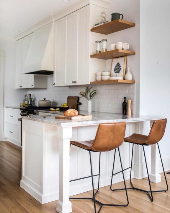کابینت آشپزخانه رنگ پلی استر سفید
