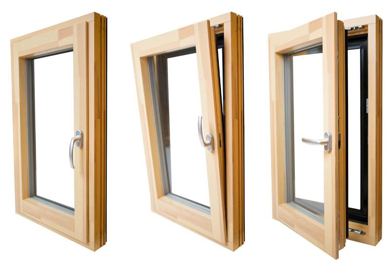 پنجره با بازشوی دو حالته