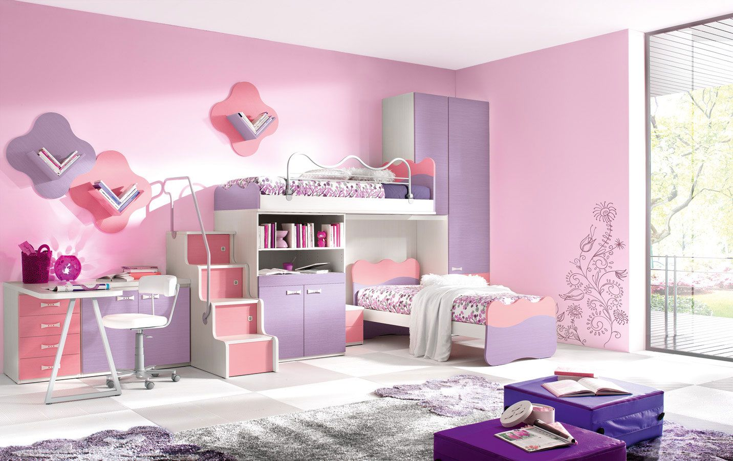 چیدمان اتاق خواب دخترانه 3