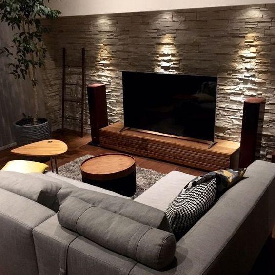 42 ایده برای دکوراسیون دیوار پشت تلویزیون