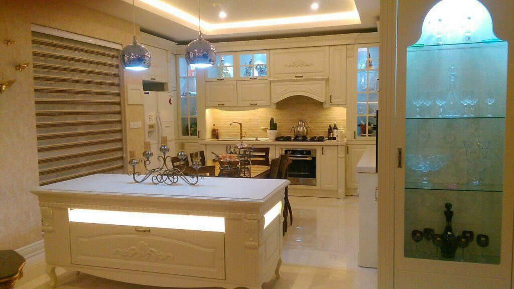 طراحی آشپزخانه بزرگ ممبران