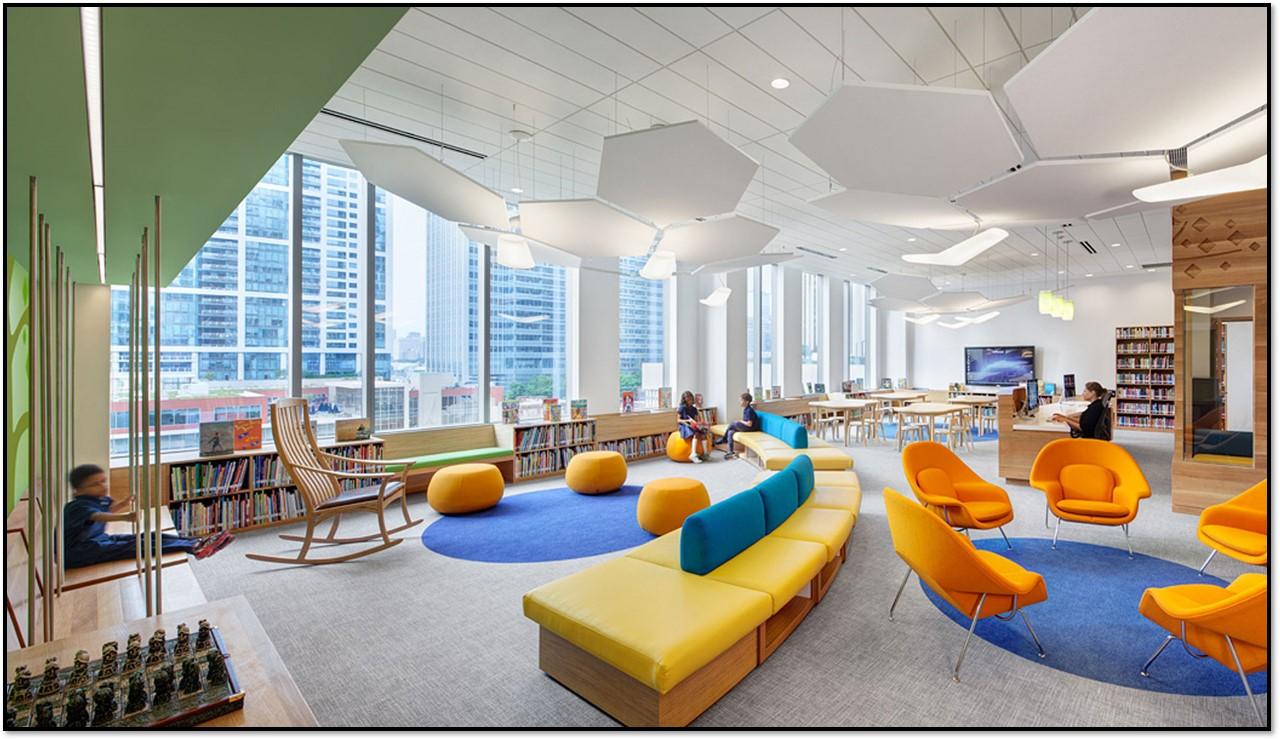 کتابخانه و شش ضلعی