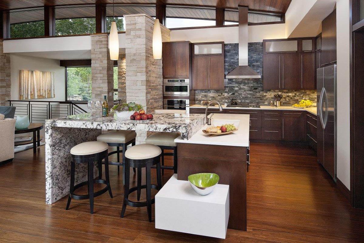 طراحی اپن آشپزخانه 10