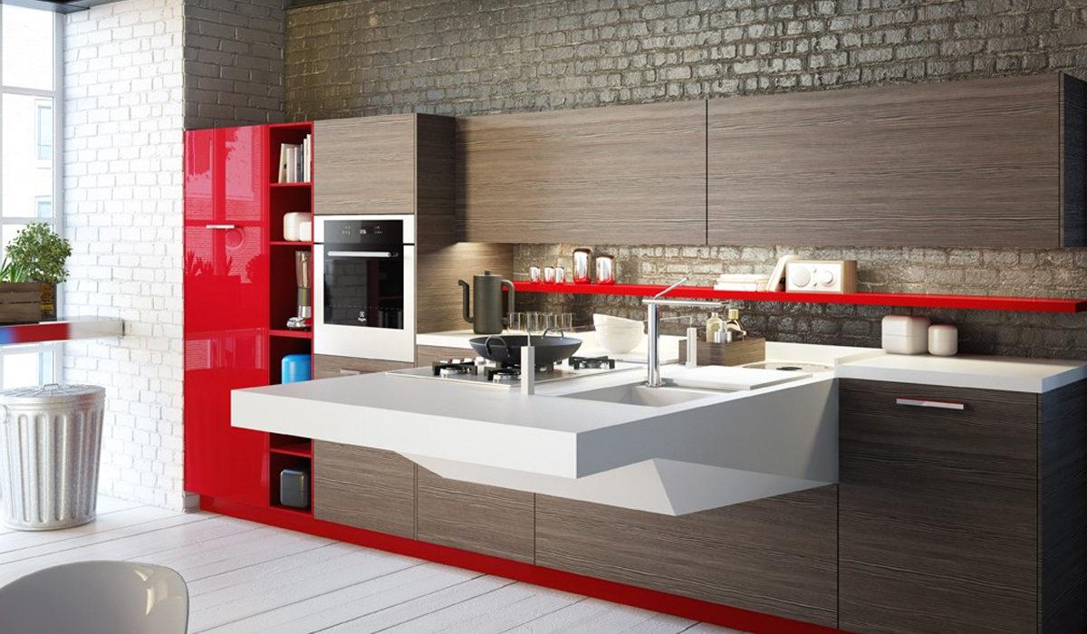 طراحی آشپزخانه مدرن 12