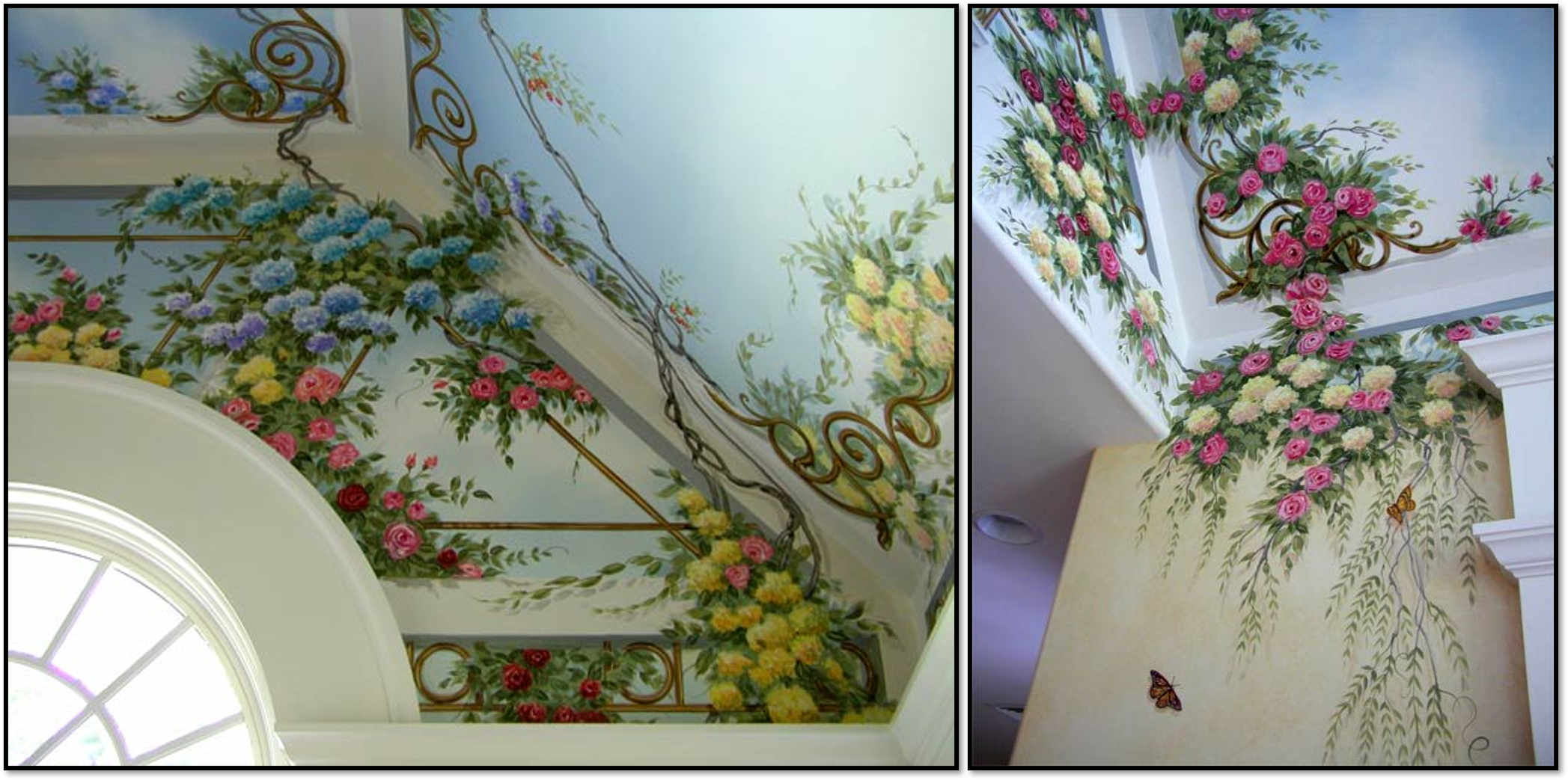 طرح گل گلی روی سقف