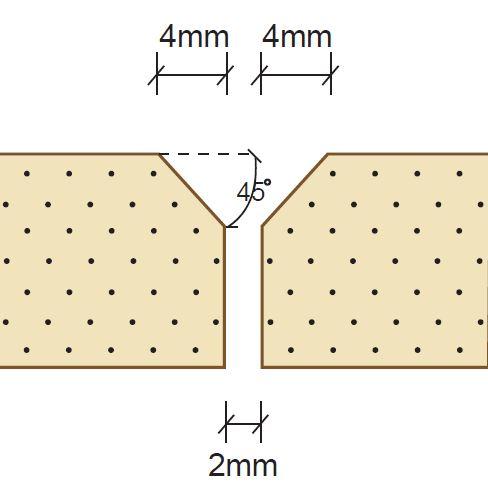 فاصله درز بین دو صفحه