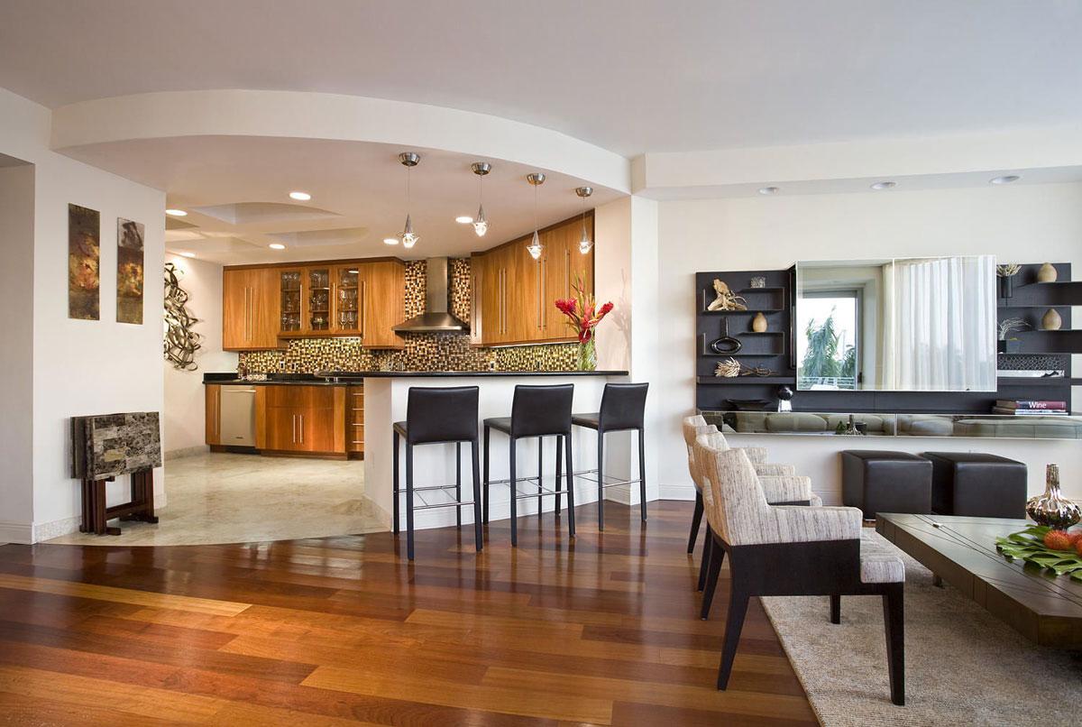 طراحی آشپزخانه سه گوش 2