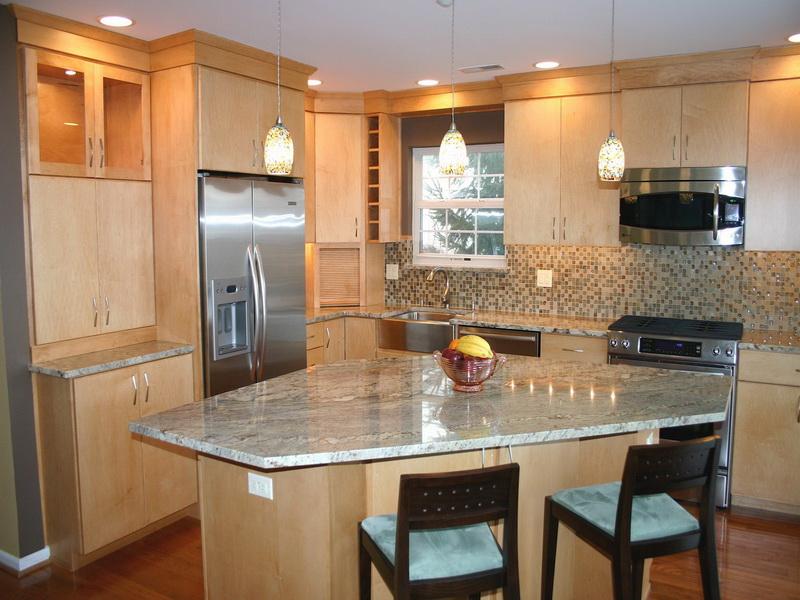 طراحی آشپزخانه سه گوش 3