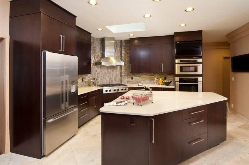 طراحی آشپزخانه سه گوش 5