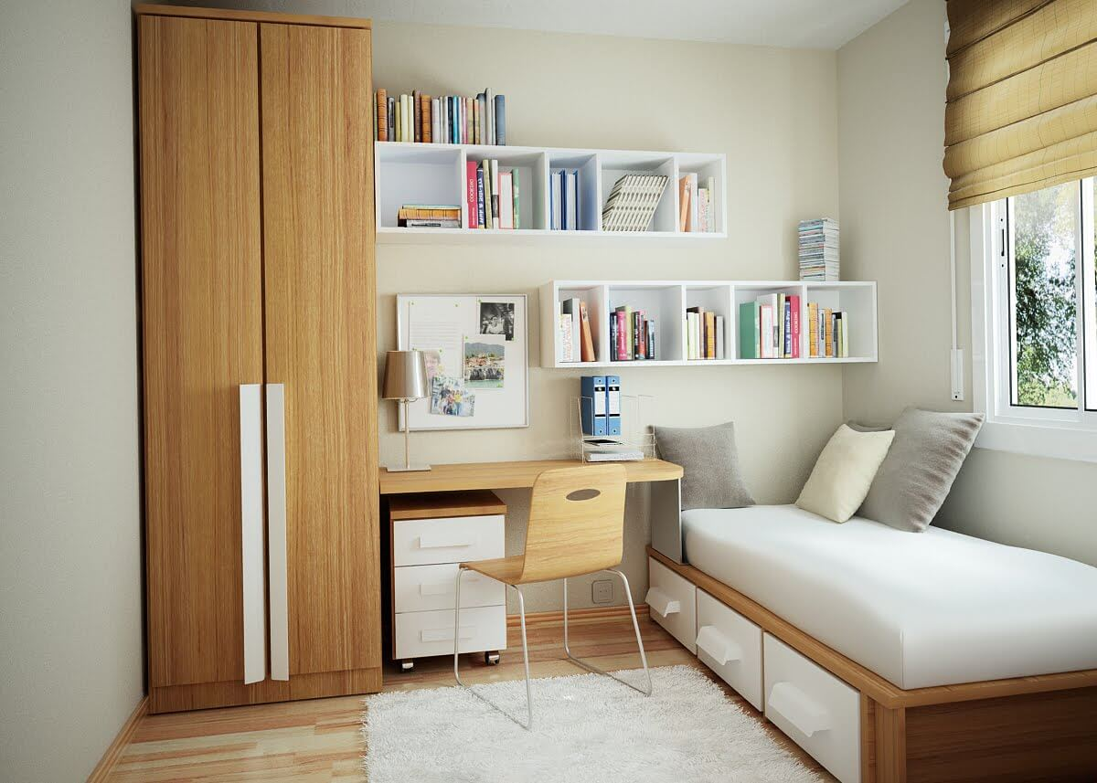 کمد دیواری اتاق کوچک 5