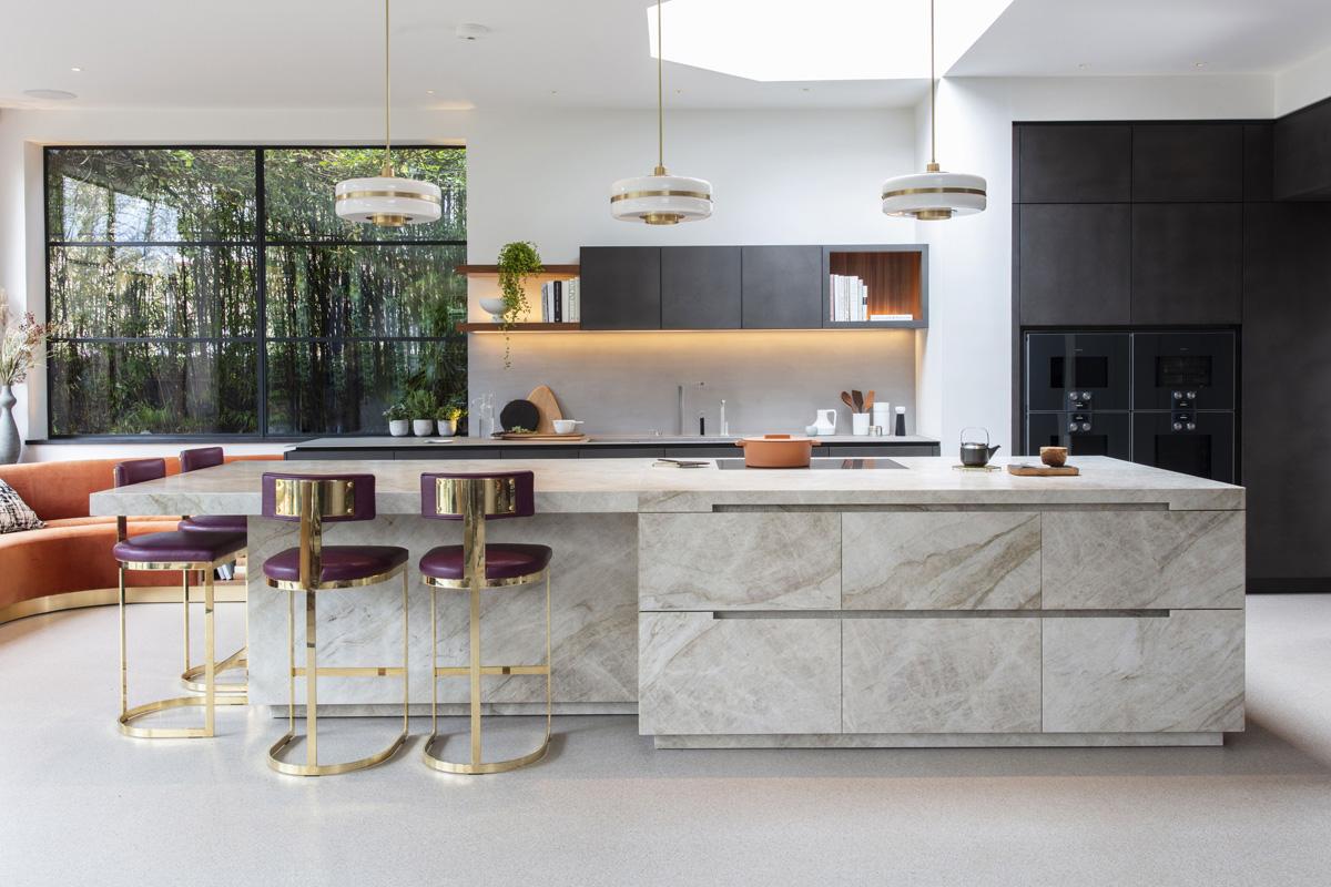 طراحی آشپزخانه اپن 8