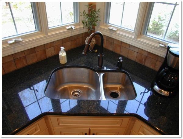 طراحی آشپزخانه سه گوش 7