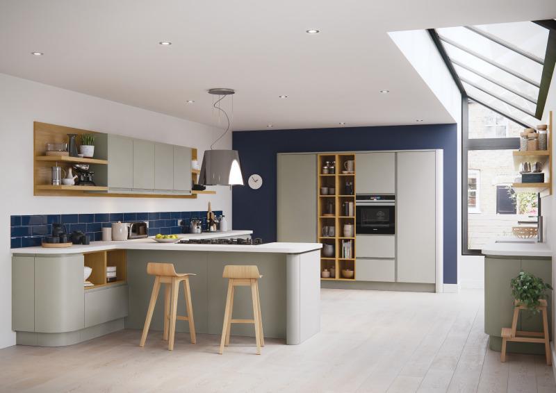 طراحی آشپزخانه اپن 9