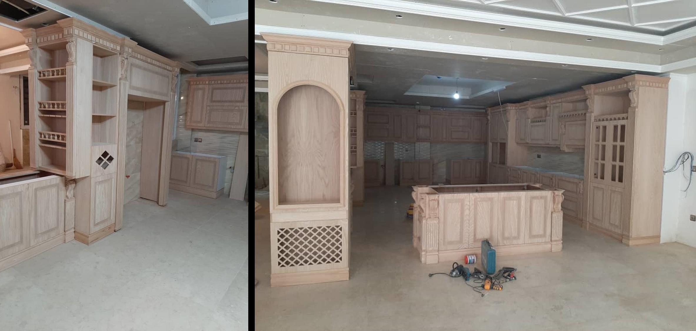 مدل کابینت چوبی 3