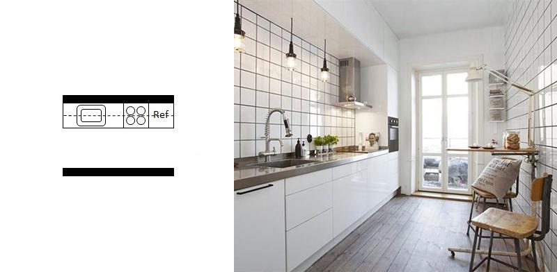 آشپزخانه راهرویی 10