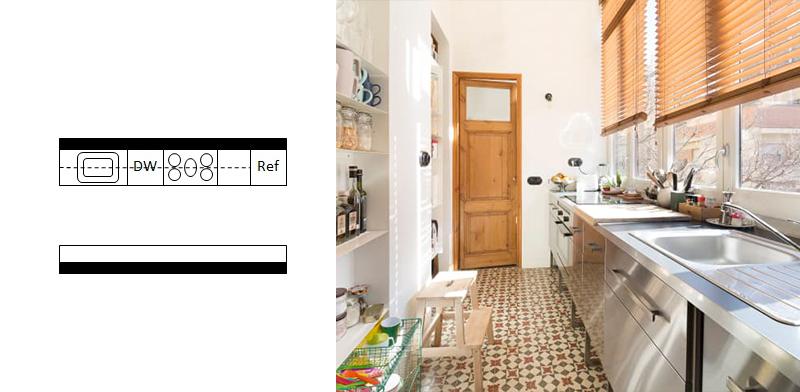 آشپزخانه راهرویی 12