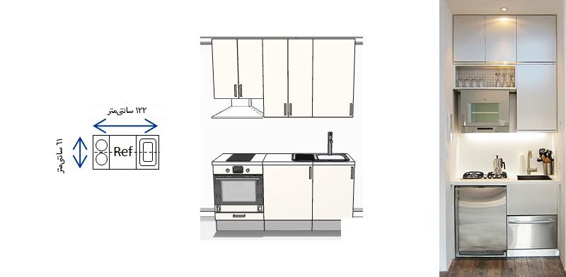 آشپزخانه راهرویی 13