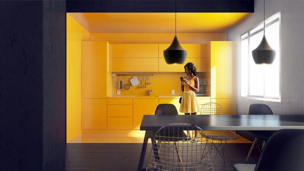 آشپزخانه یک دیواره 5