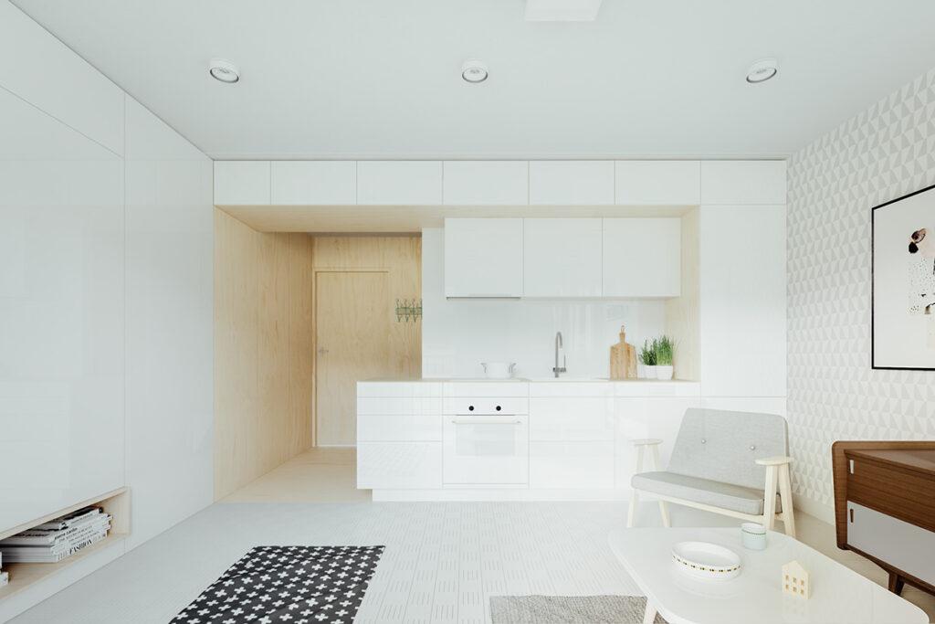 آشپزخانه یک دیواره 13