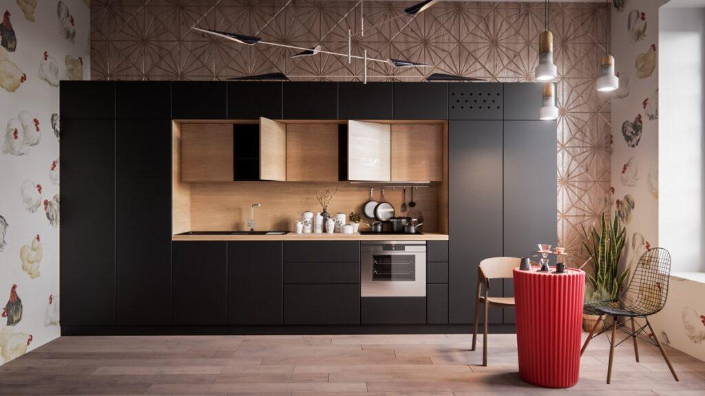 آشپزخانه یک دیواره 47
