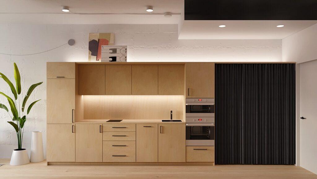 آشپزخانه یک دیواره 44