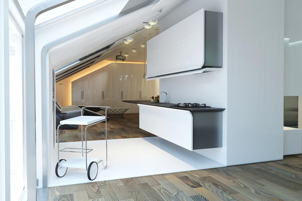 آشپزخانه یک دیواره 40
