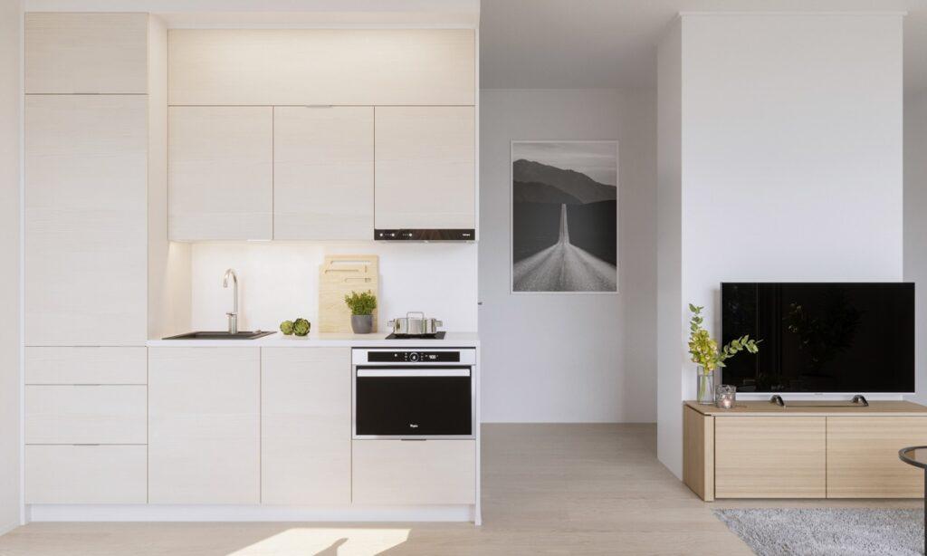 آشپزخانه یک دیواره 21