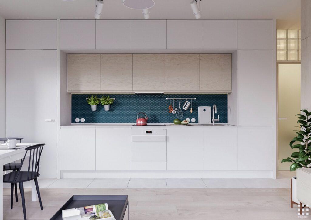 آشپزخانه یک دیواره 48
