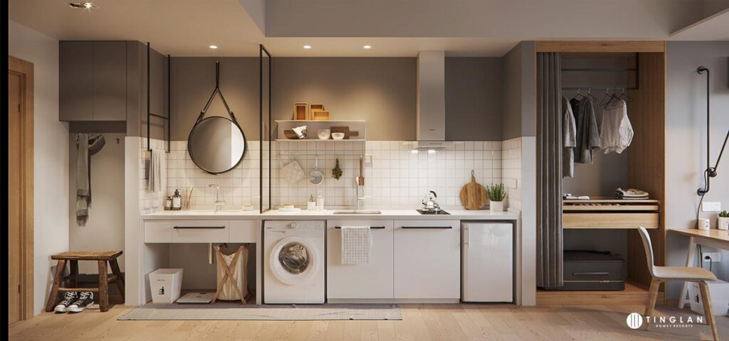 آشپزخانه یک دیواره 24