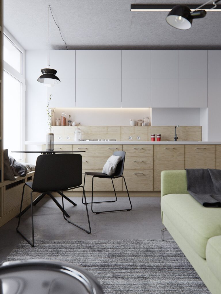 آشپزخانه یک دیواره 17