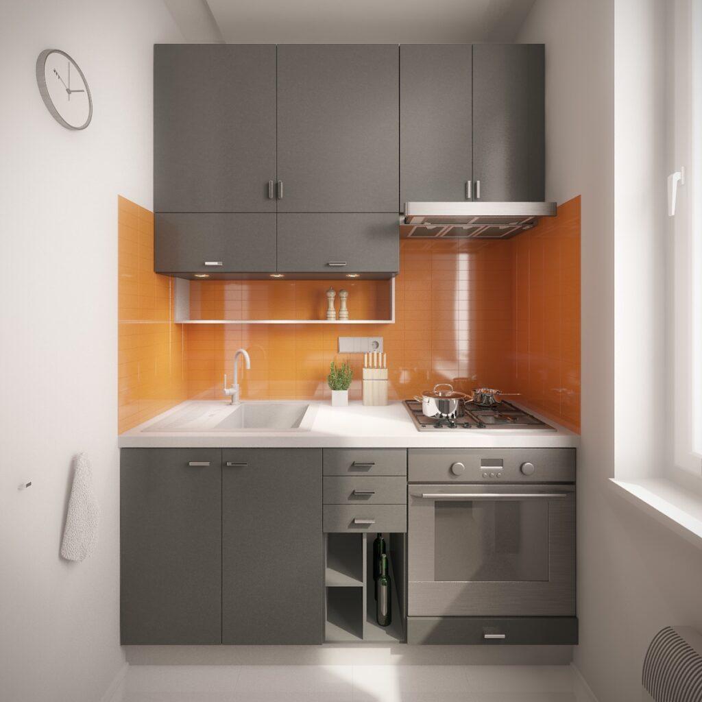 آشپزخانه یک دیواره 10