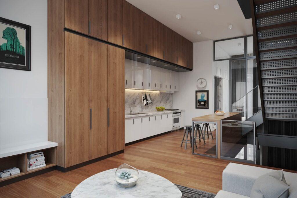 آشپزخانه یک دیواره 49